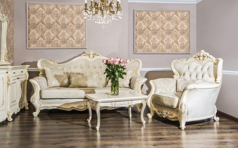 Set canapea cu fotolii Gioconda Crem