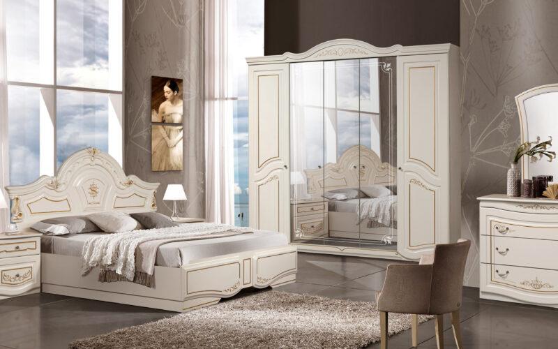 Mobila dormitor Opera Crem