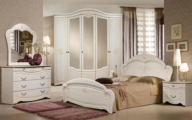 Mobila dormitor Gamila Crem