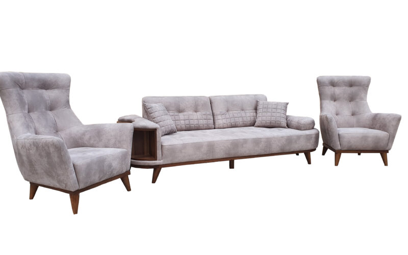 Set canapea cu fotolii Turcia 2 Crem
